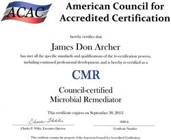 ACAC mold remediation certification